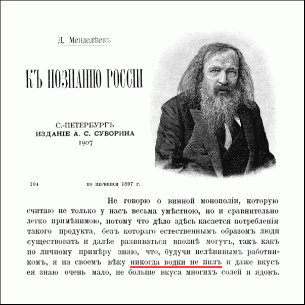 Менделеев и водка