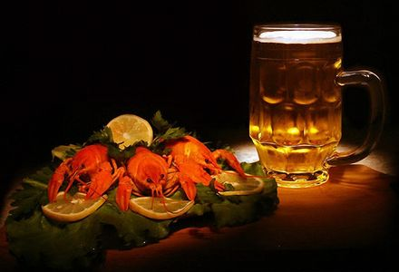 фото раков с пивом