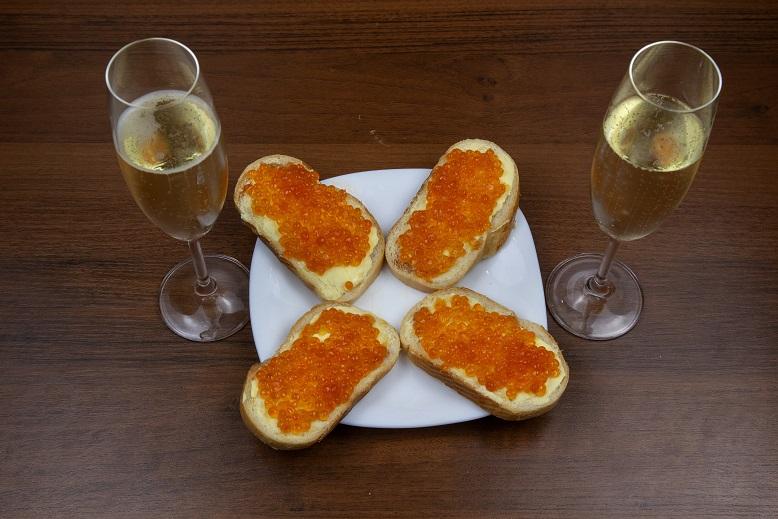 фото бутербродов с икрой к шампанскому