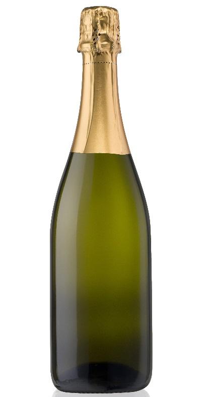 фото бутылки шампанского из тёмного стекла