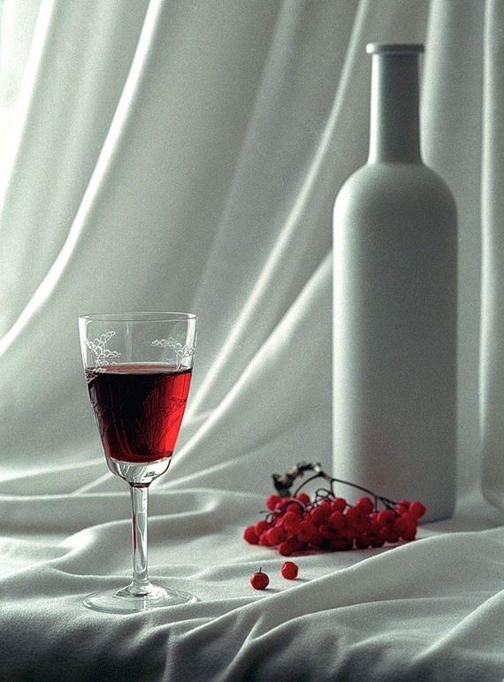 готовое калиновое вино фото