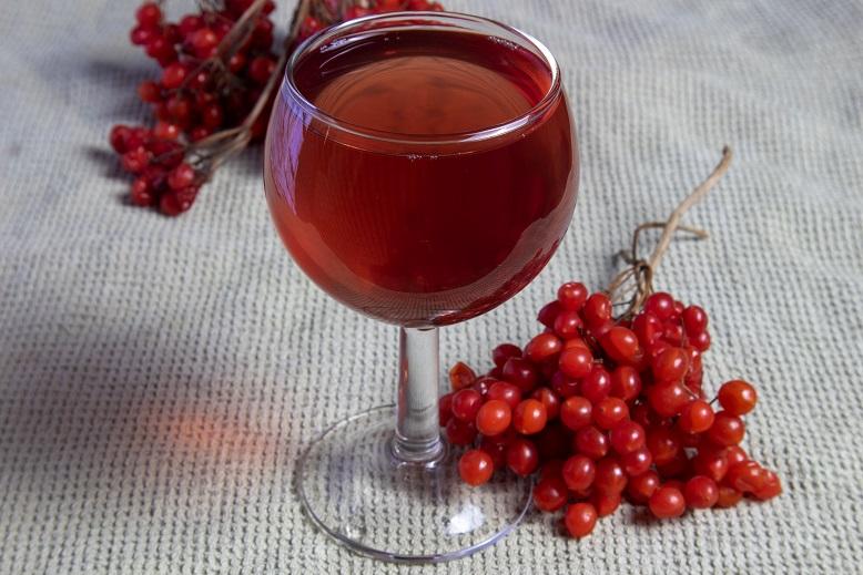 фото домашнего вина из калины