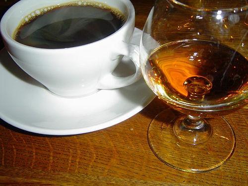 фото французского коньяка с кофе