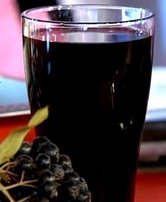 Настойка из черноплодки с водкой