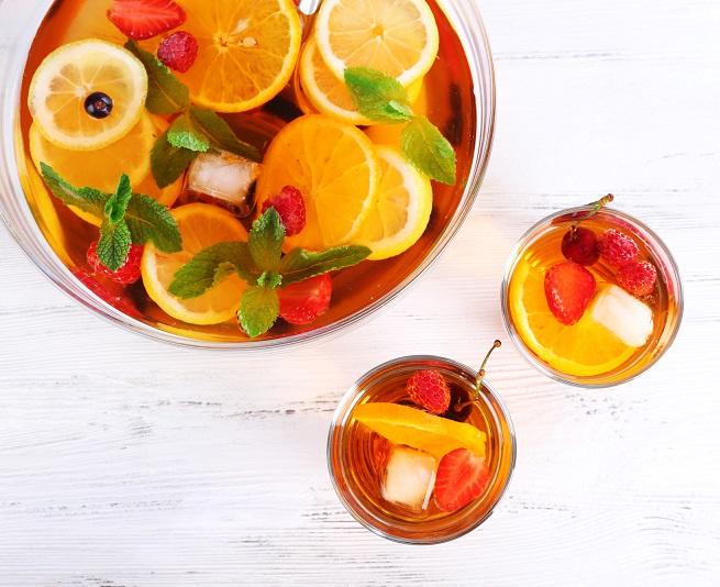 фото холодного фруктового пунша