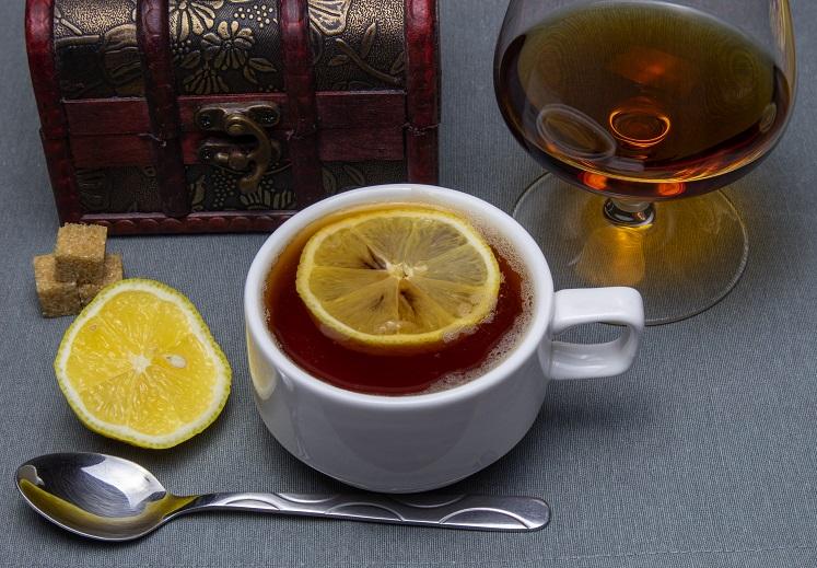 фото классического чая с коньяком
