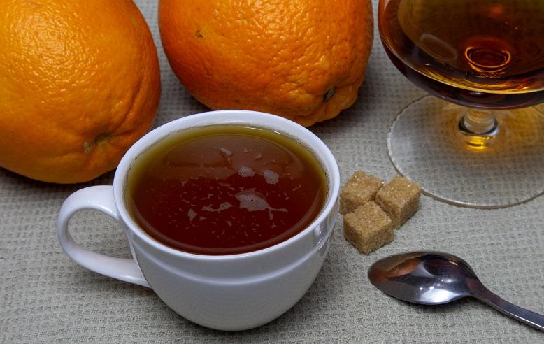 фото зеленого чая с коньяком