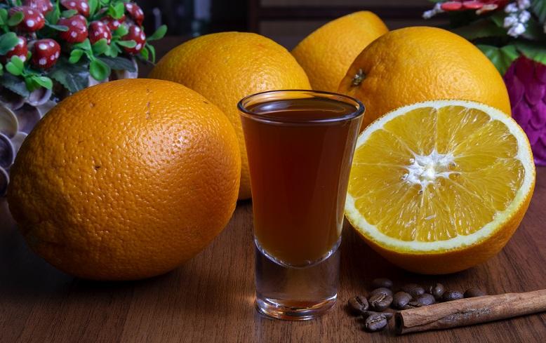 фото апельсиновой настойки с кофе