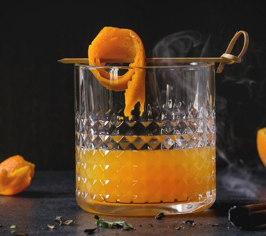 разбавить ликер апельсиновым соком