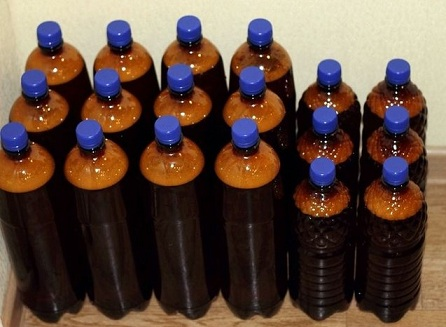 бутылки с домашним пивом