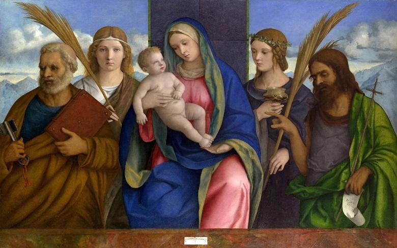 Мадонна с младенцем и святыми фото