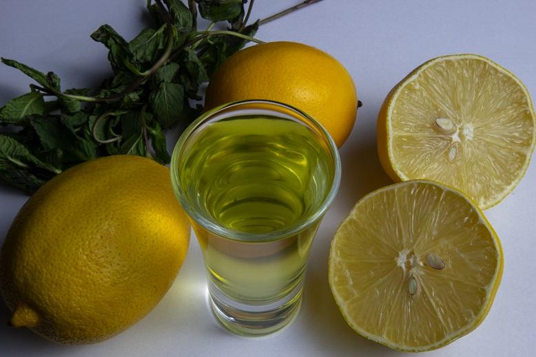 фото лимонной настойки с мятой