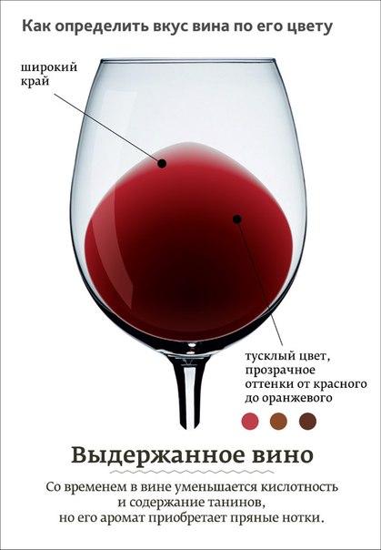 как определить выдержанное красное вино по цвету