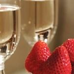 фото шампанского с клубникой