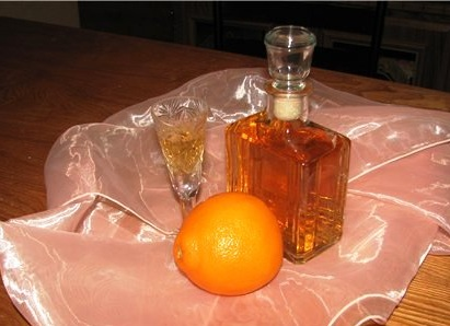фото самогона на кофейных зернах с апельсином