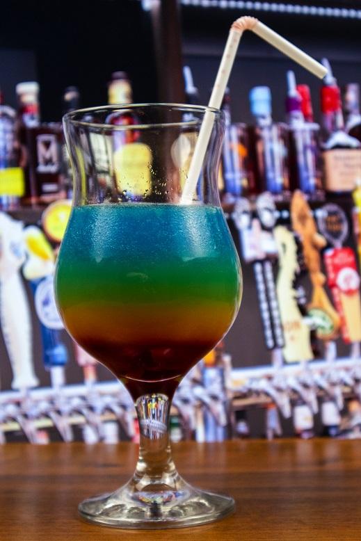 фото коктейля радуга