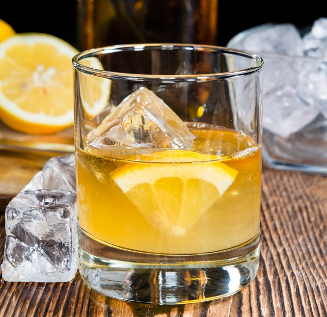 фото виски с лимонным соком