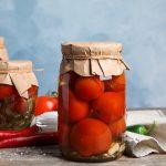 как консервировать помидоры в вине