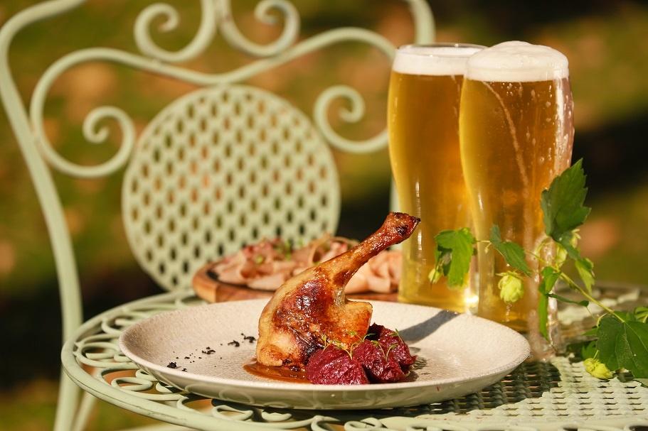 запеченная утка с пивом