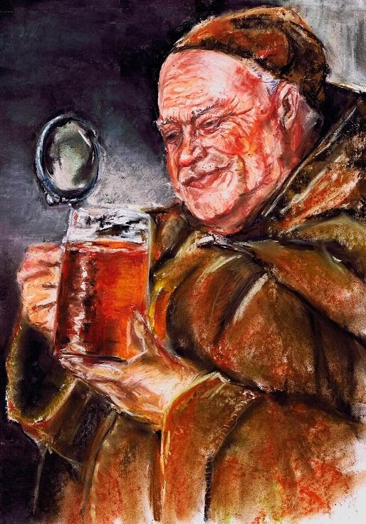 монах пьет пиво