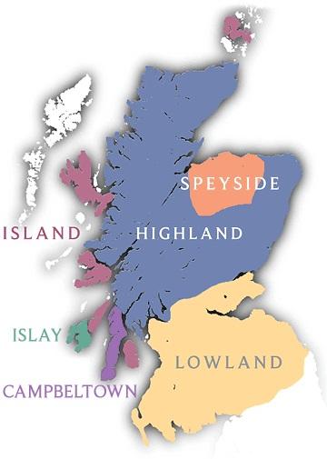 регионы производства шотландского виски фото