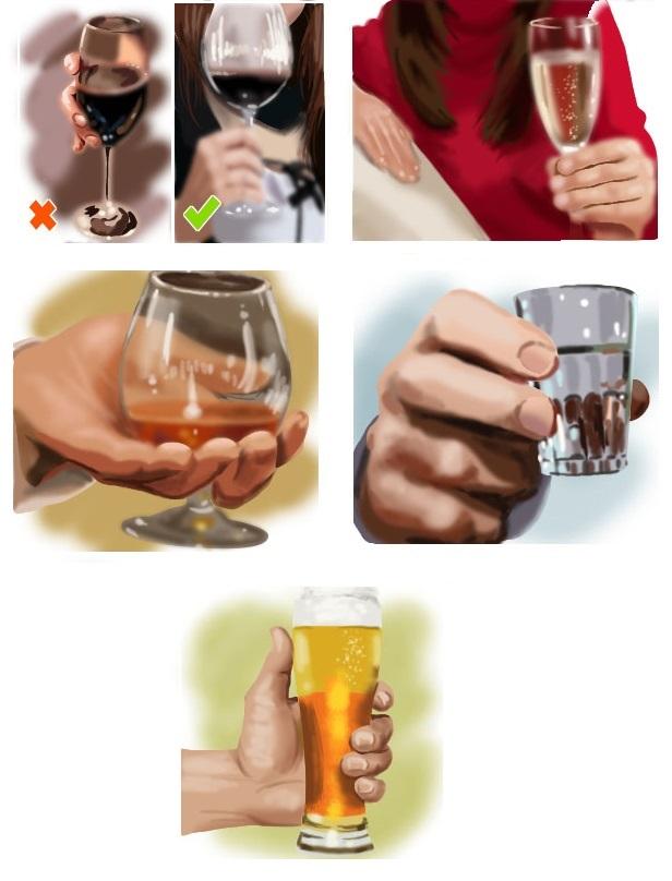 фото как нужно держать бокалы с алкоголем