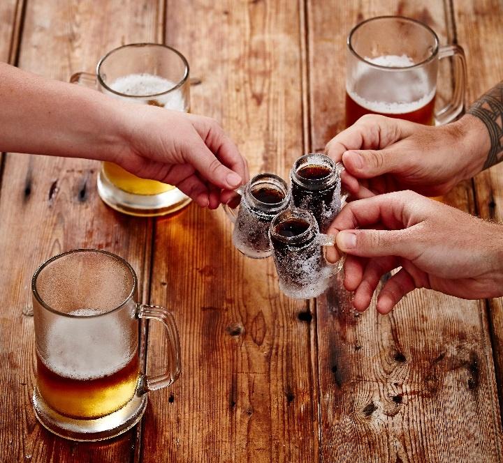 коктейль Егермейстер с пивом