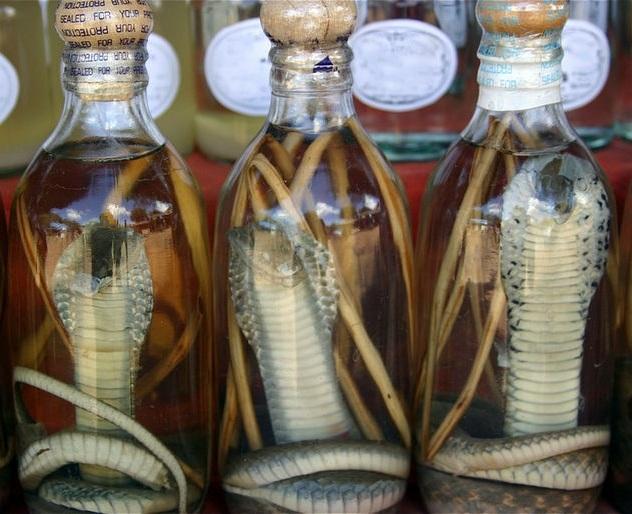 вьетнамская водка со змеей