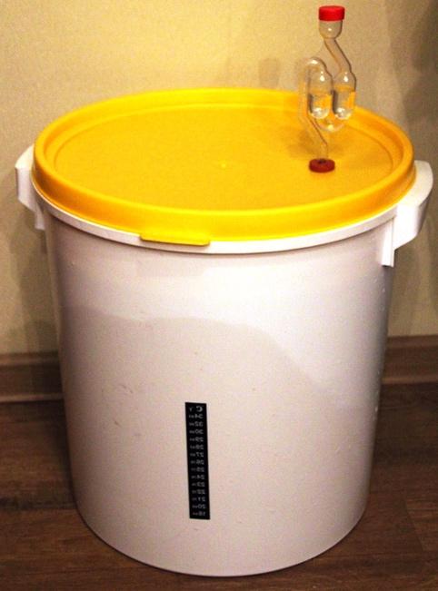 фото бродильной емкости для пива с гидрозатвором