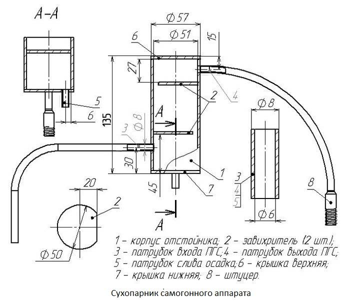 Самогонный аппарат схема, конструкция самогонный аппарат стиллмен космо без куба купить