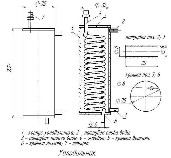 Схема самогонный аппарат немецкий самогонный аппарат с сухопарником и барботером