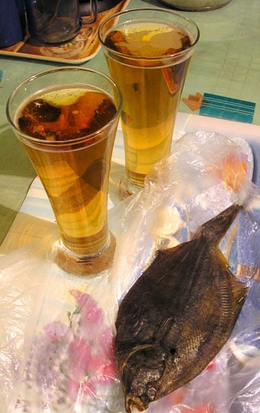фото камбалы с пивом