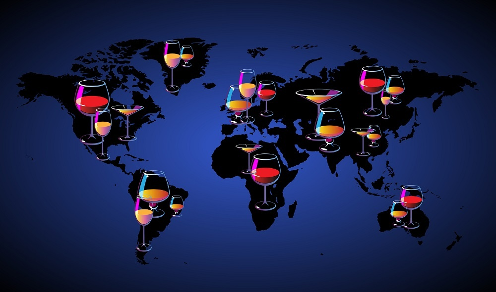 карта вино нового света