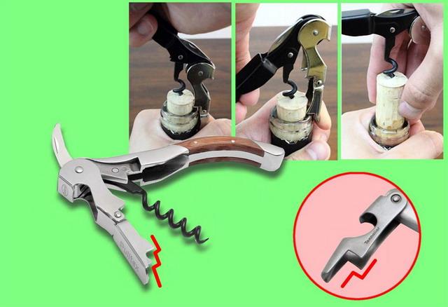 фото как пользоваться ножм сомелье