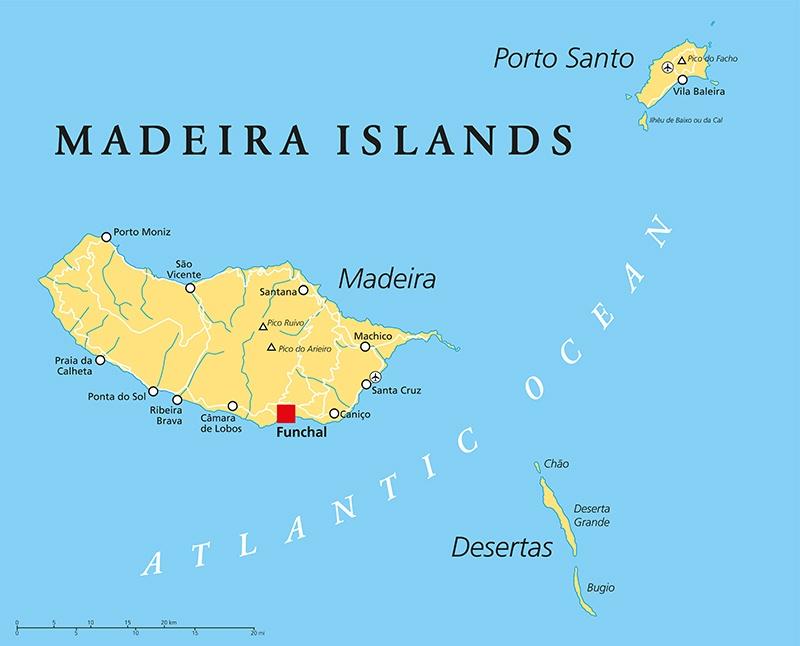 фото карты острова Мадейра