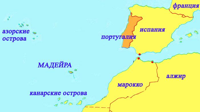 остров Мадейра на карте