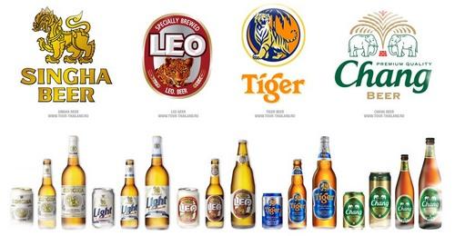 фото марок пива в Таиланде