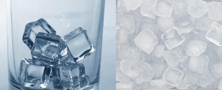 прозрачный и обычный лед