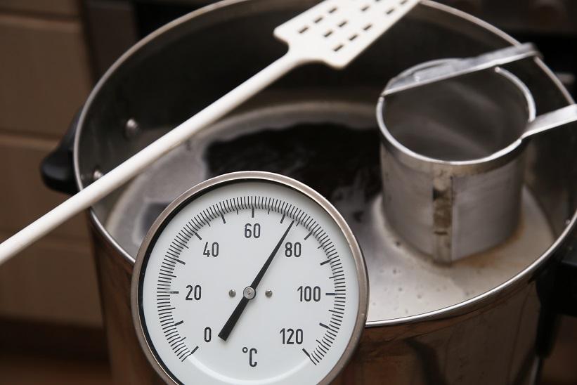 контроль температуры при затирании солода