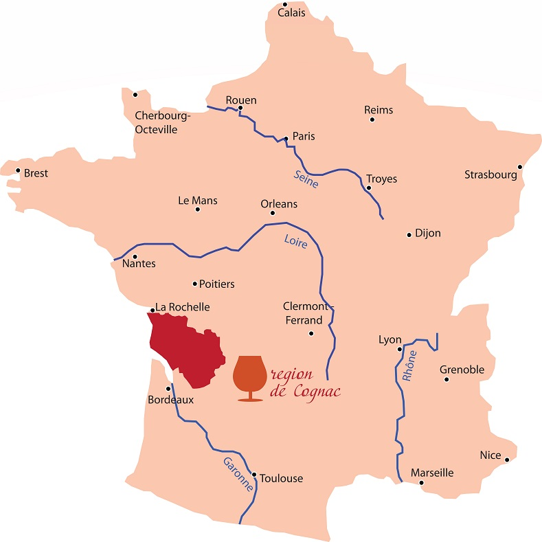 регион производства коньяка во Франции