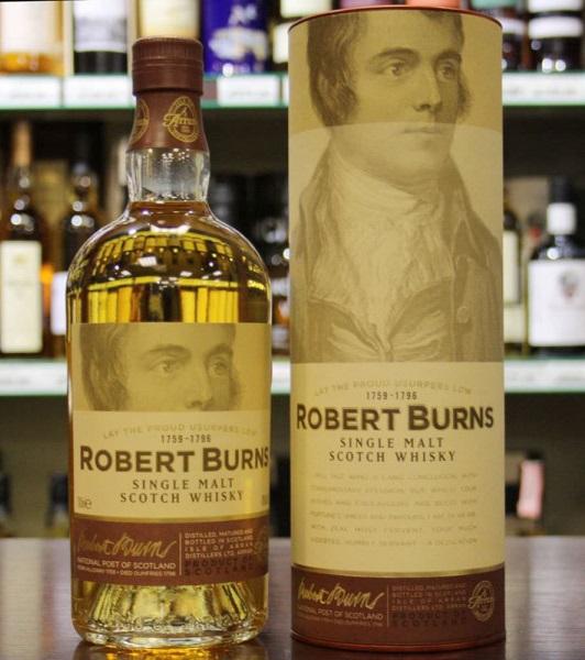 фото бутылки односолодового виски Robert Burns