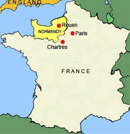 фото Нормандии на карте Франции