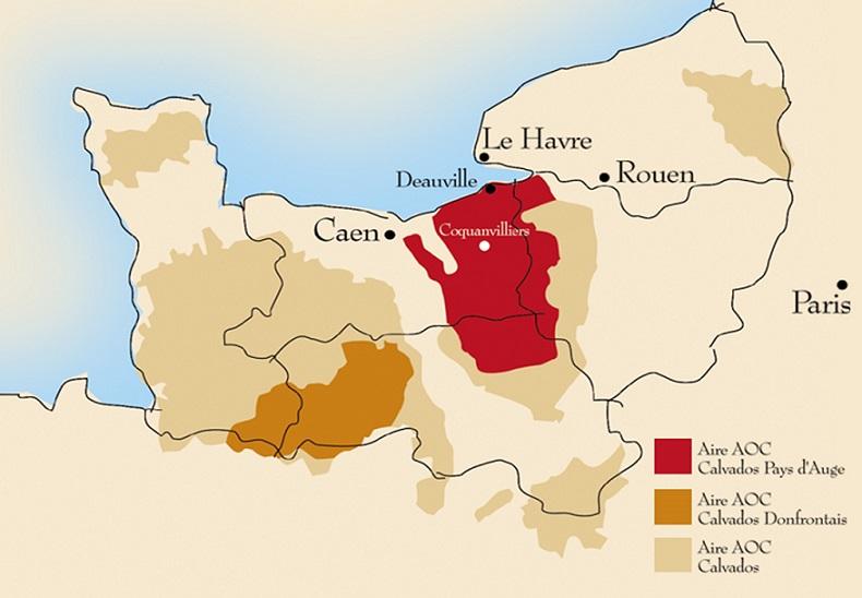 карта регионов производства кальвадоса