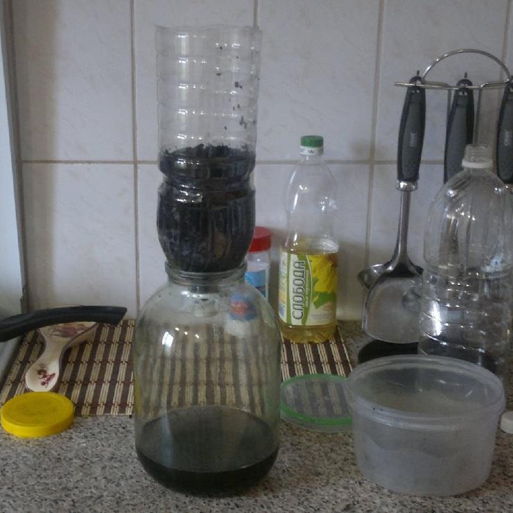 колонная для очистки самогона кокосовым углем
