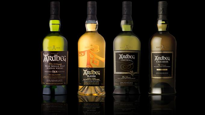 фото основных видов виски Ардберг