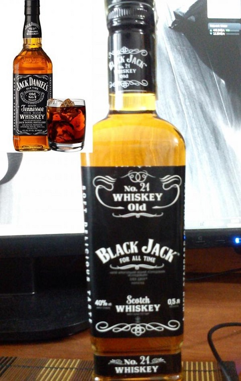 фото бутылки виски Блек Джек