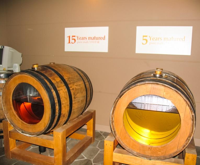 как выдерживают виски в Японии