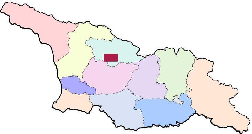 регион Ханчкара на карте Грузии