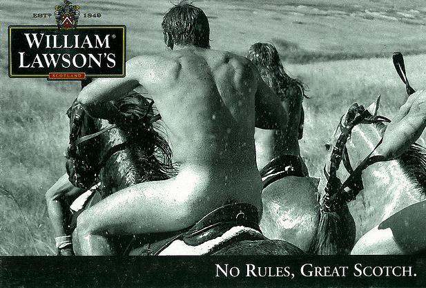фото рекламы виски Вильям Лоусонс