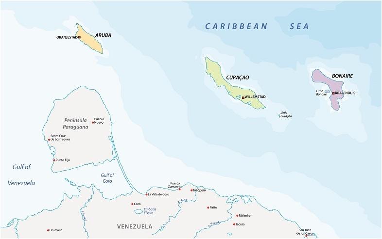 остров Кюрасао на карте